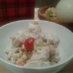 Cizrnový salát s kuřecím masem