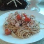 Celozrnné špagety s kuřecím či krůtím masem