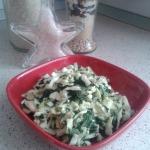 Štíhlé nudle se špenátem