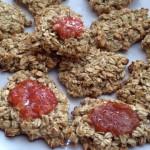 Ovesné sušenky s domácí marmeládou