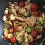 Krůtí nudličky se zeleninou