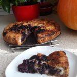 Ovocný koláč z celozrnné mouky s tvarohem